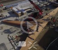 Suivi de chantier Pose du Boomerang Gare de Lorient