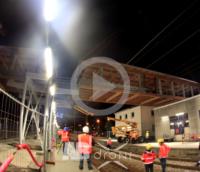 Suivi de chantier Pose passerelle Gare de Lorient